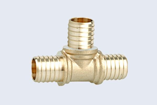 China brass tee hose fittings hydraulic