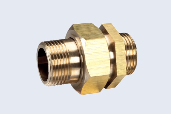 China male piece brass union fittings